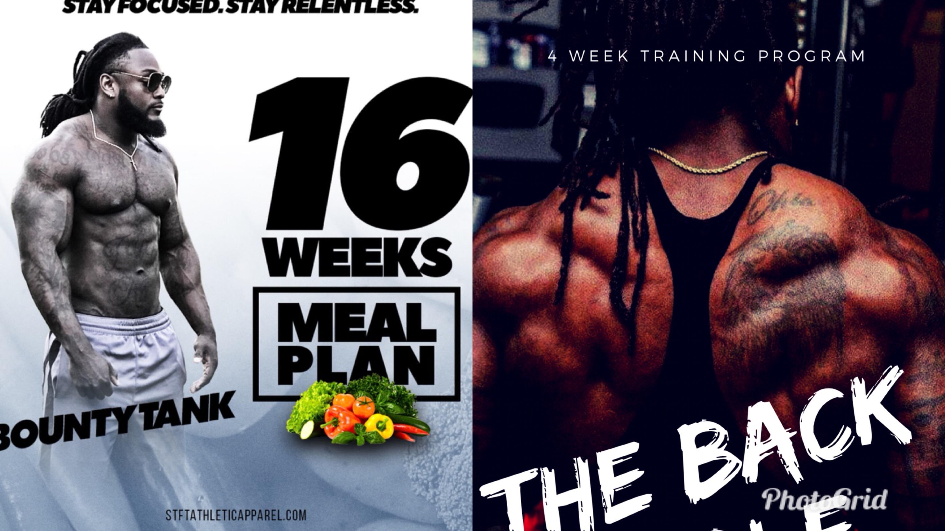 16 Week Meal Plan and 4 week Back ebook